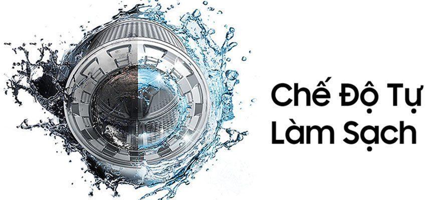 Chế độ tự làm sạch lồng giặt của máy giặt cửa trước Samsung WW75J42G3KW/SV