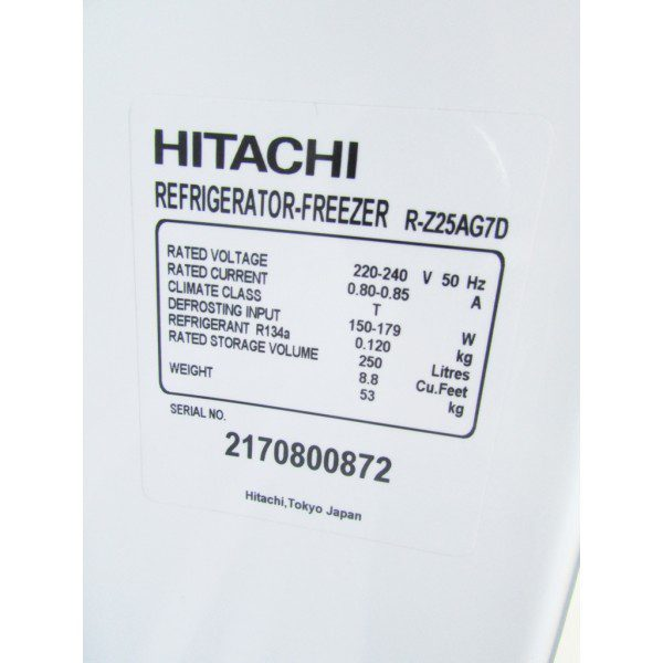 Tủ lạnh Hitachi R-Z25AG7D 250 lít