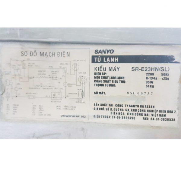 Tủ lạnh Sanyo SR-E23HN 230 lít