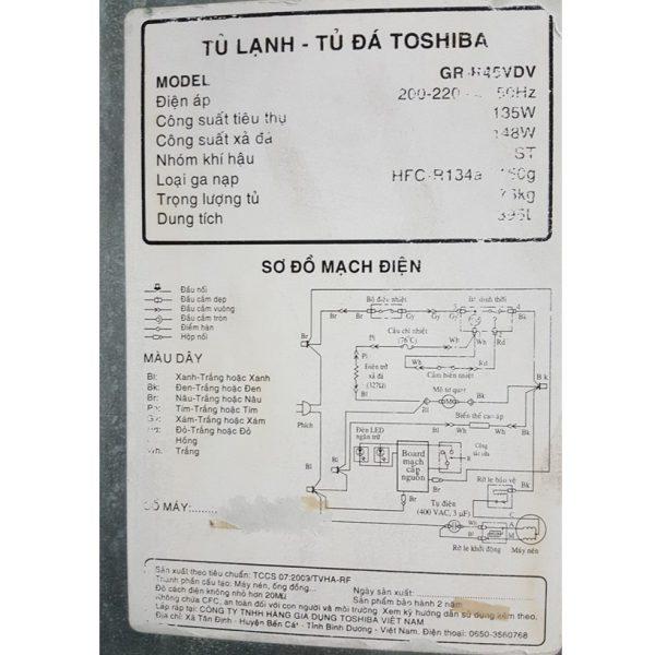 Tủ lạnh Toshiba GR-R45VDV