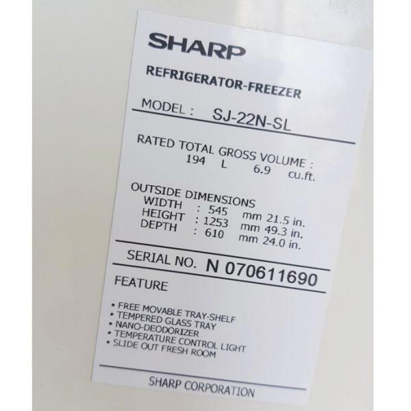 Tủ lạnh Sharp SJ-22N 220 lít