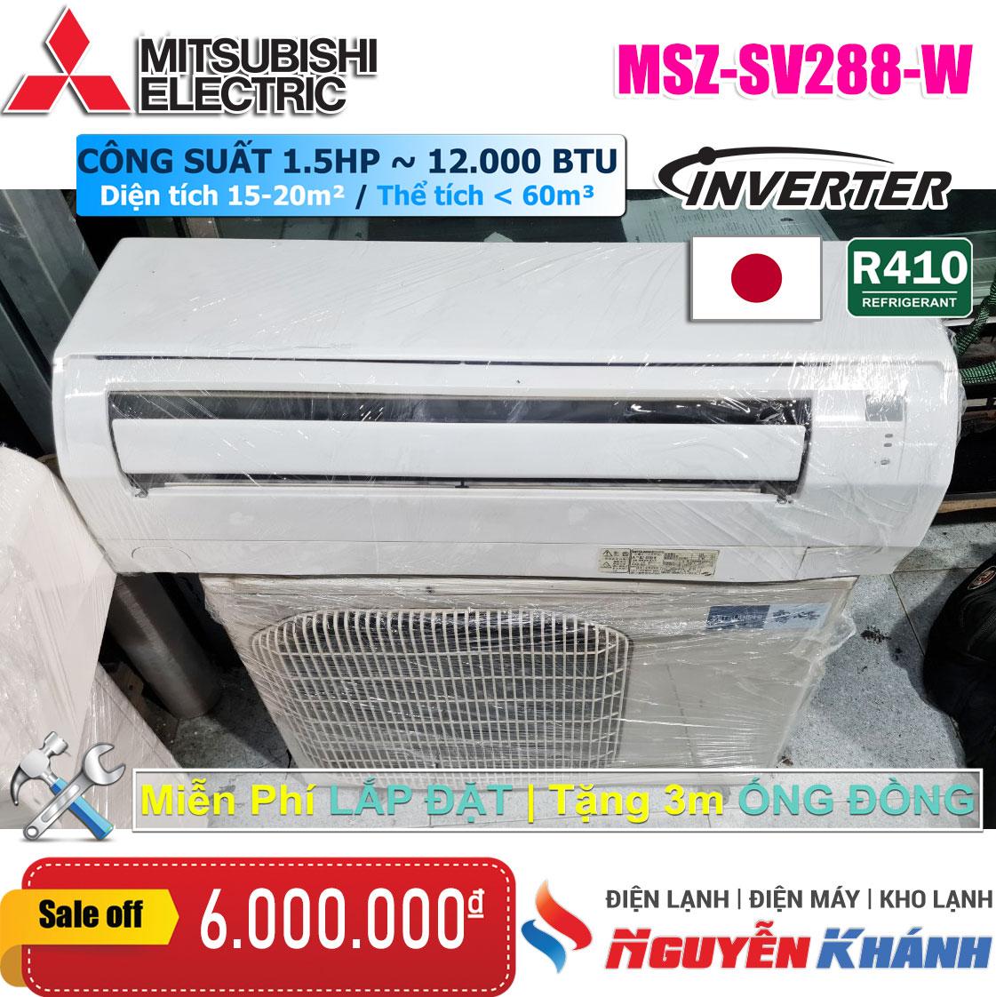 Máy lạnh Mitsubishi Inverter MSZ-SV288-W