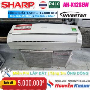 Máy lạnh Sharp Inverter AH-X12SEW (1.5Hp)