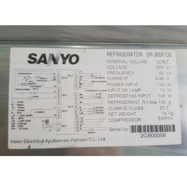 Tủ lạnh Sanyo SR-360R 356 lít