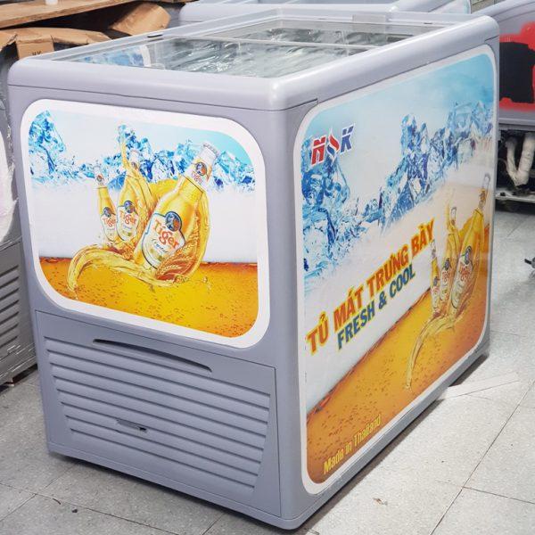 tủ mát nằm ngang Thái Lan 300 lít (Kính bằng)