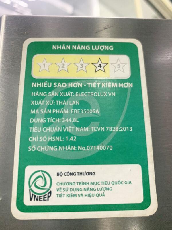 Tủ lạnh Electrolux EBE3500SA 350 lít