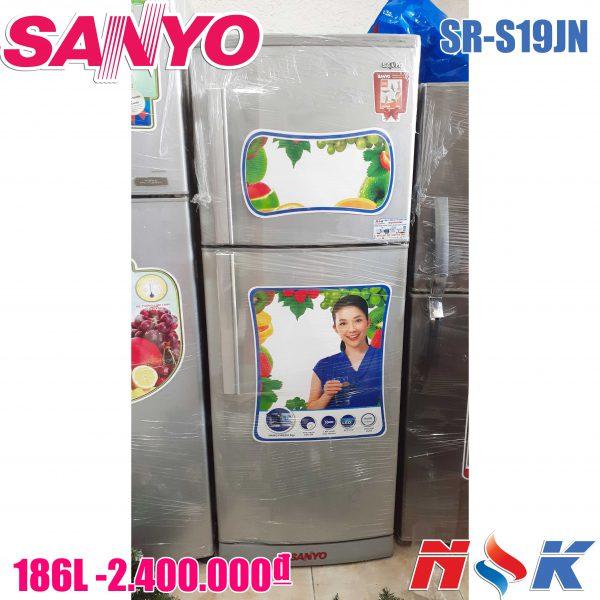 Tủ lạnh Sanyo SR-S19JN 186 lít, không đóng tuyết