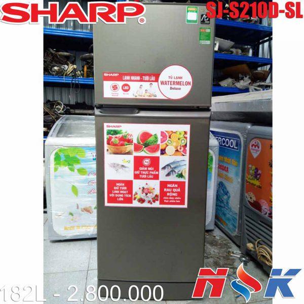 Tủ lạnh Sharp SJ-S210D-SL 182 lít