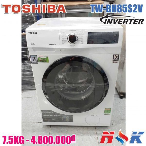 Máy giặt cửa ngang Toshiba Inverter 7.5 Kg TW-BH85S2V