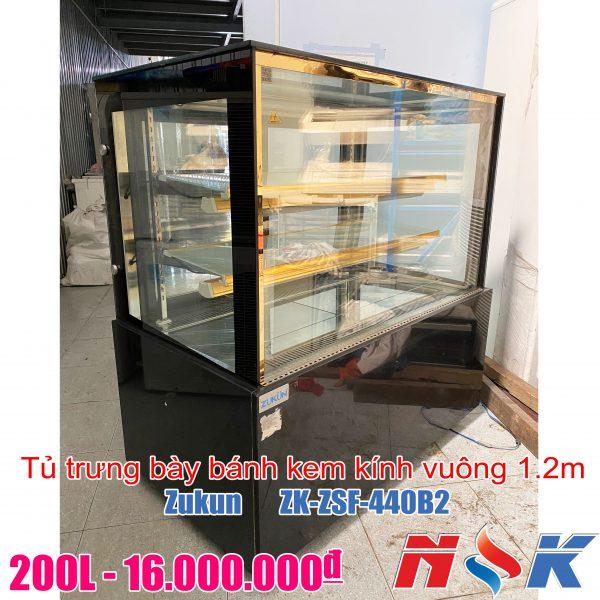 Tủ trưng bày bánh kem kính vuông Zukun ZSF-440B2