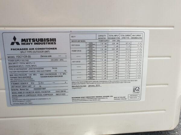 Máy lạnh âm trần Mitsubishi Heavy FDT71CR-S5 3.0Hp