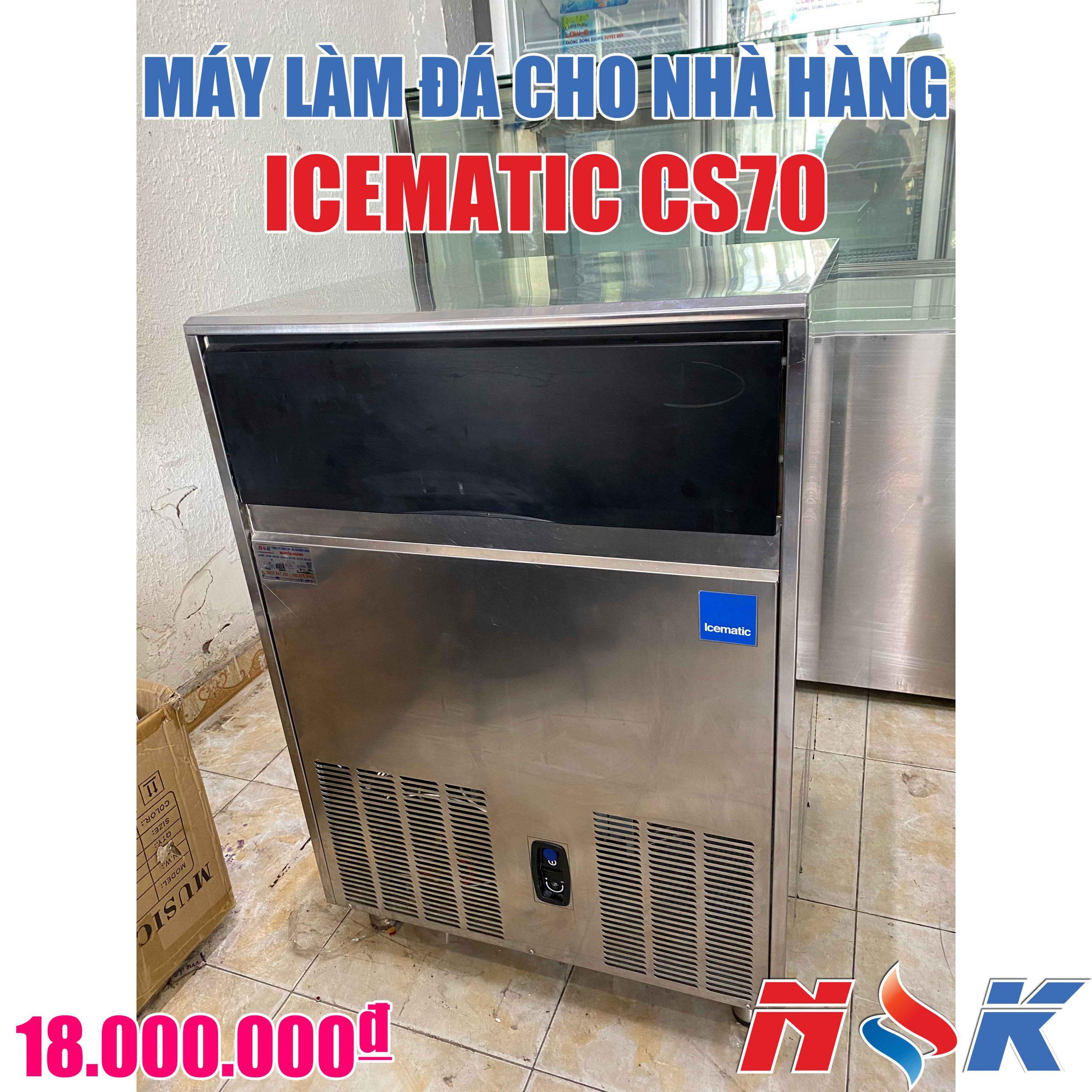 Máy làm đá viên cho nhà hàng Icematic