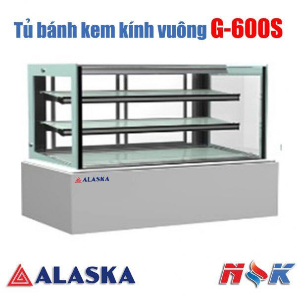 Tủ bánh kem kính vuông Alaska G-600S