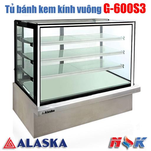 Tủ bánh kem kính vuông Alaska G-600S3