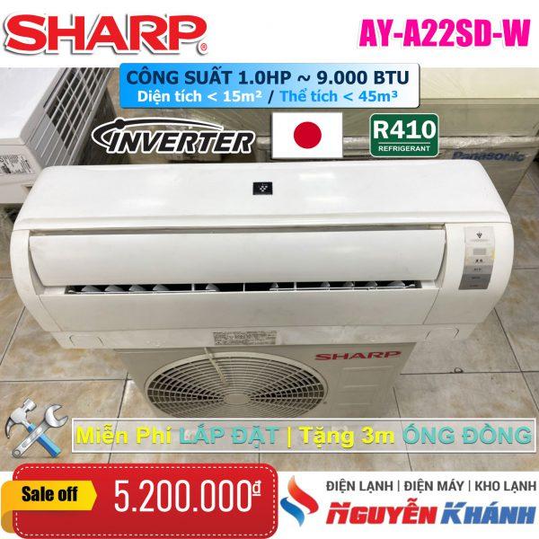 Máy lạnh Sharp Inverter AY-A22SD-W 1HP