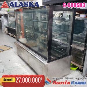 Tủ bánh kem kính vuông Alaska G-600SH3