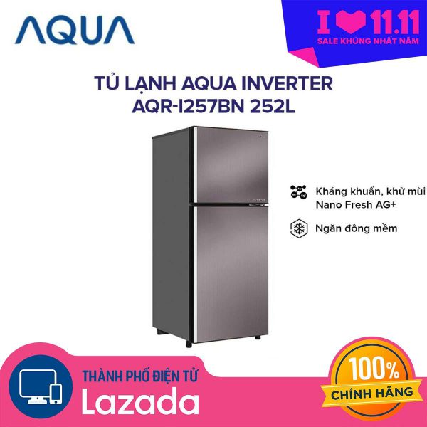 Tủ lạnh Aqua Inverter AQR-I257BN 252 lít