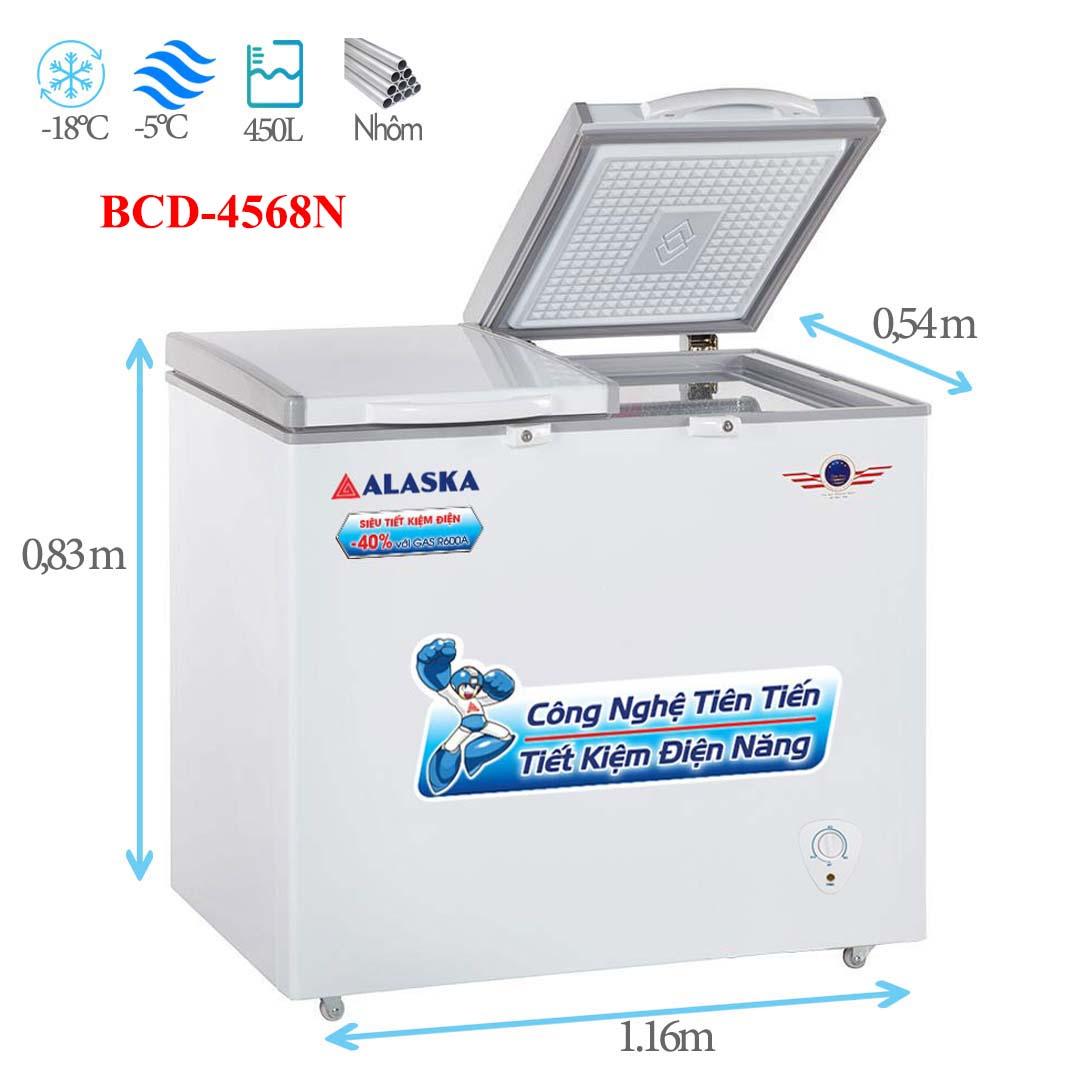 Tủ đông mát Alaska BCD-4568N 450 lít