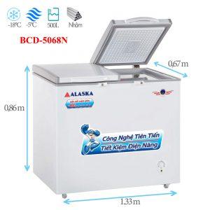 Tủ đông mát Alaska BCD-5068N 500 lít