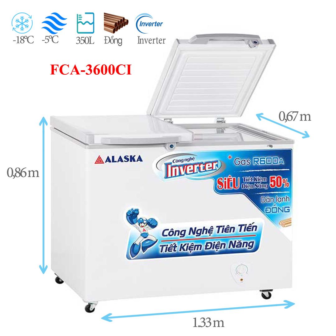 Tủ đông mát Alaska FCA-3600CI 350 lít