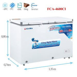 Tủ đông mát Alaska FCA-4600CI 470 lít