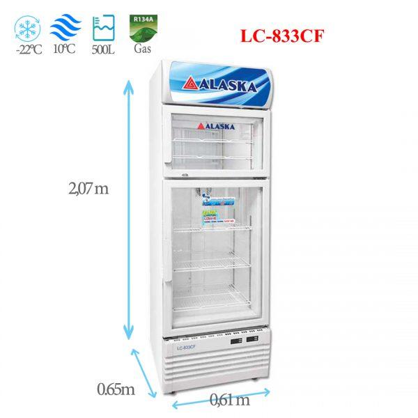 Tủ đông mát đứng Alaska LC-833CF 500 lít
