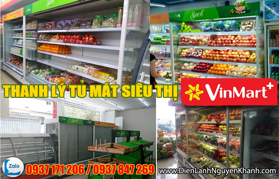 Tủ mát trưng bày siêu thị Vinmart
