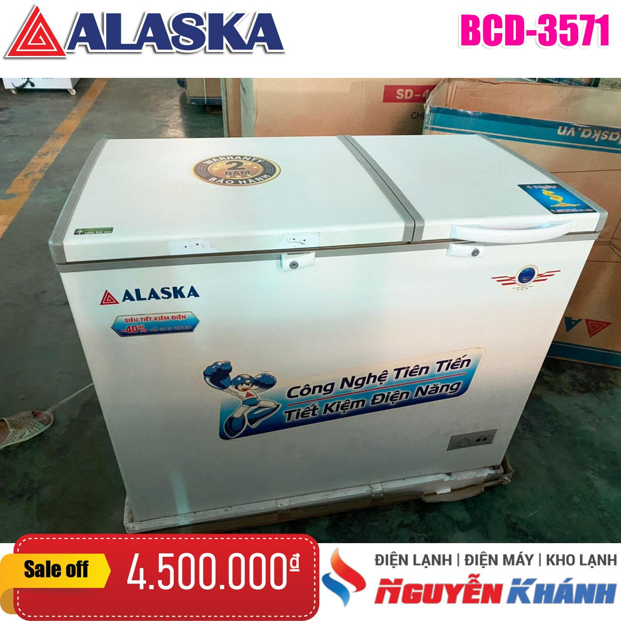 Tủ đông mát Alaska 350 lít BCD-3571