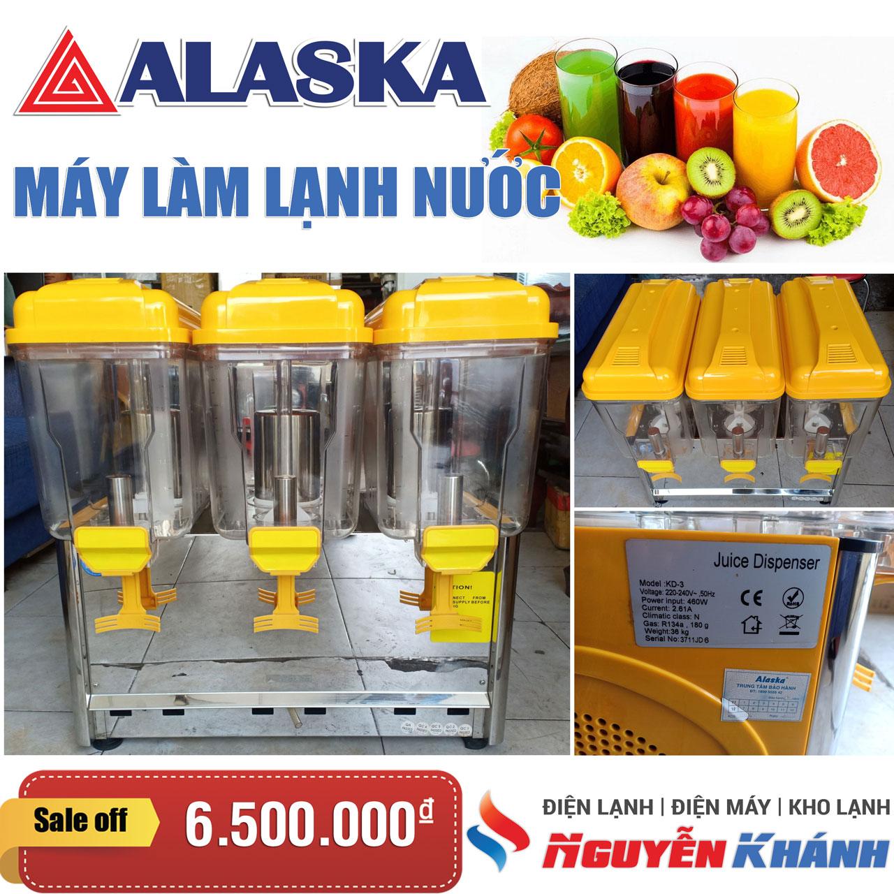 Máy làm lạnh nước trái cây 3 ngăn Alaska