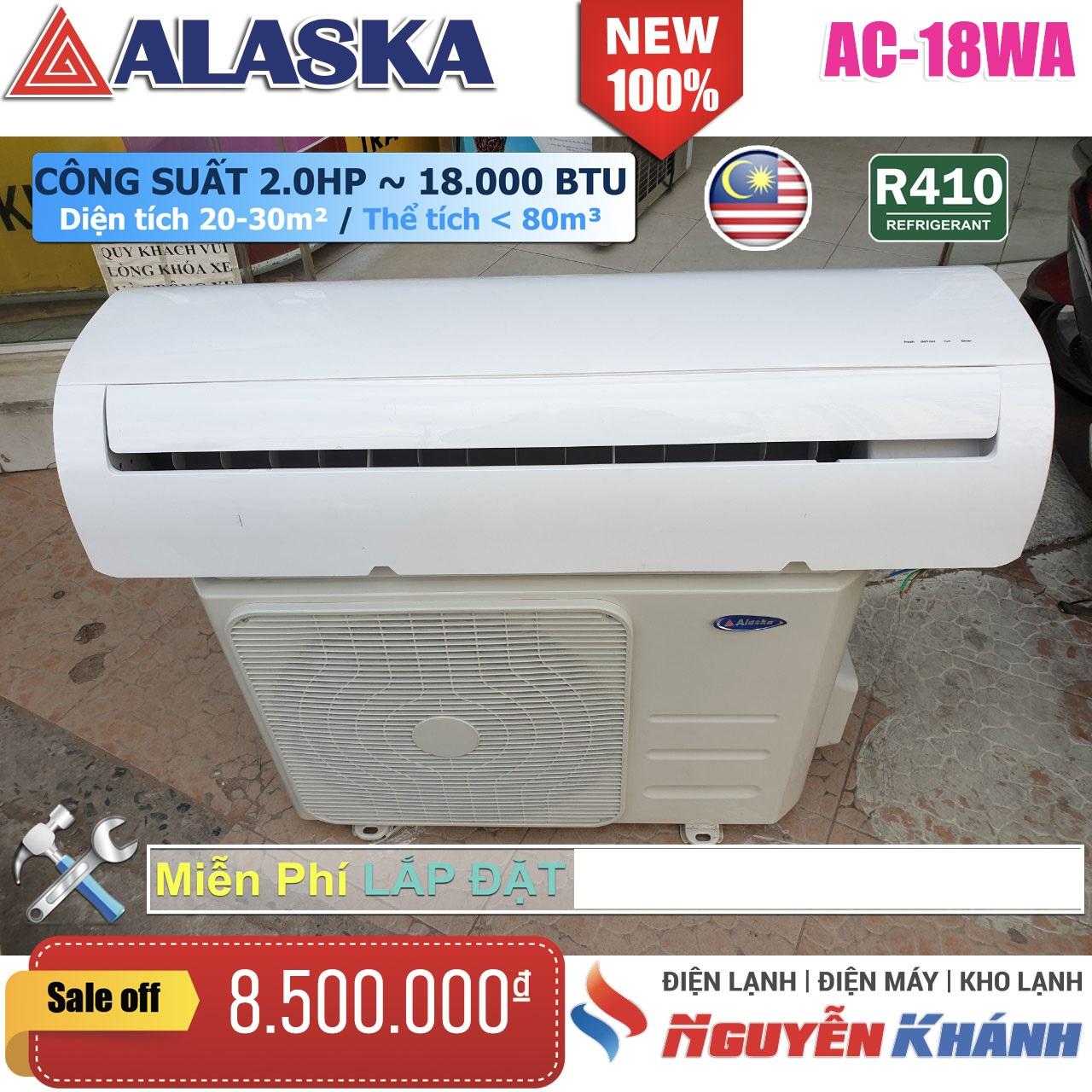 Máy lạnh Alaska AC-18WA (2.0Hp)