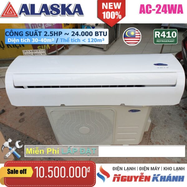 Máy lạnh Alaska AC-24WA (2.5Hp)