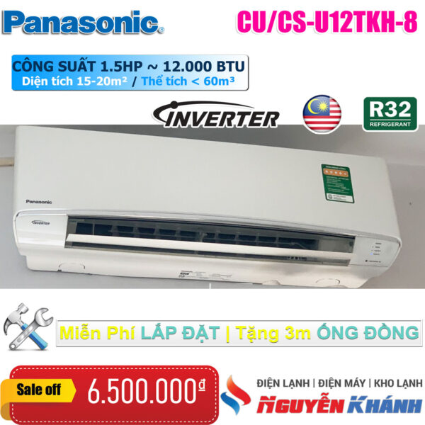 Máy lạnh Panasonic Inverter CU/CS-U12TKH-8 (1.5Hp)