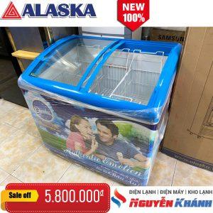 Tủ đông kem Alaska 300 lít (kính cong)