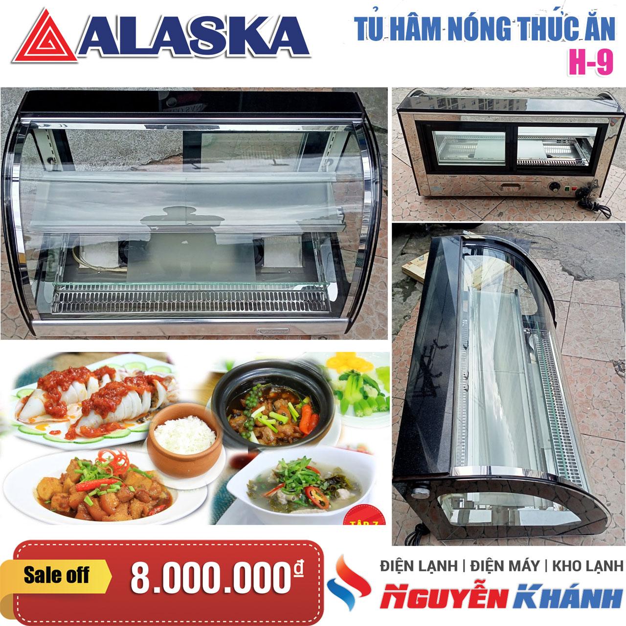 Tủ nóng trưng bày siêu thị Alaska H-9
