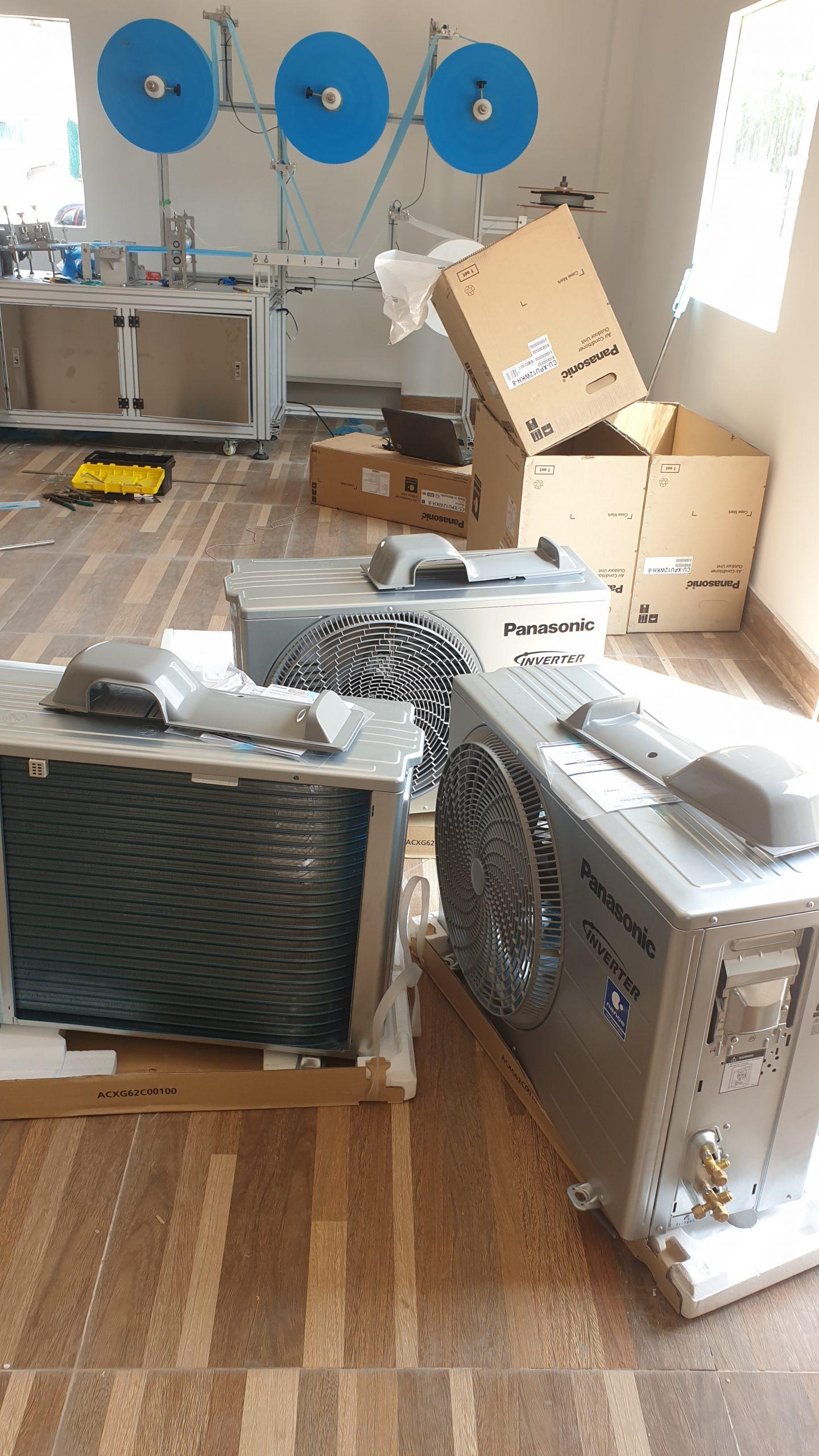 Lắp đặt máy lạnh Panasonic mới chính hãng cho nhà xưởng Củ Chi