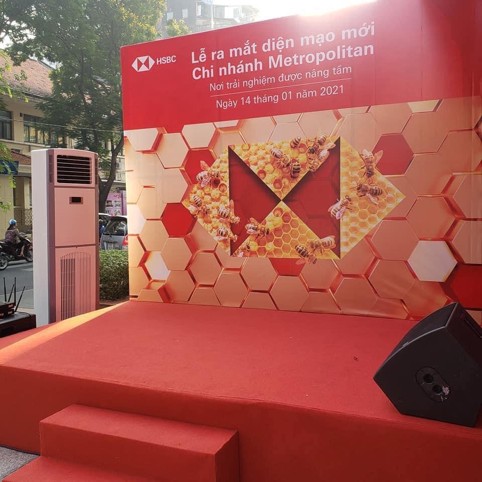Cho thuê máy lạnh tủ đứng sự kiện HSBC Bank