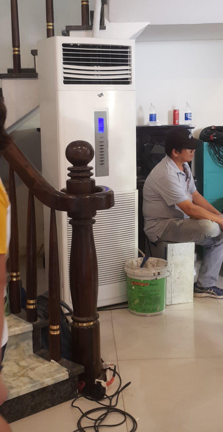 Cho thuê máy lạnh tủ đứng 5HP cho phim trường Quận 9