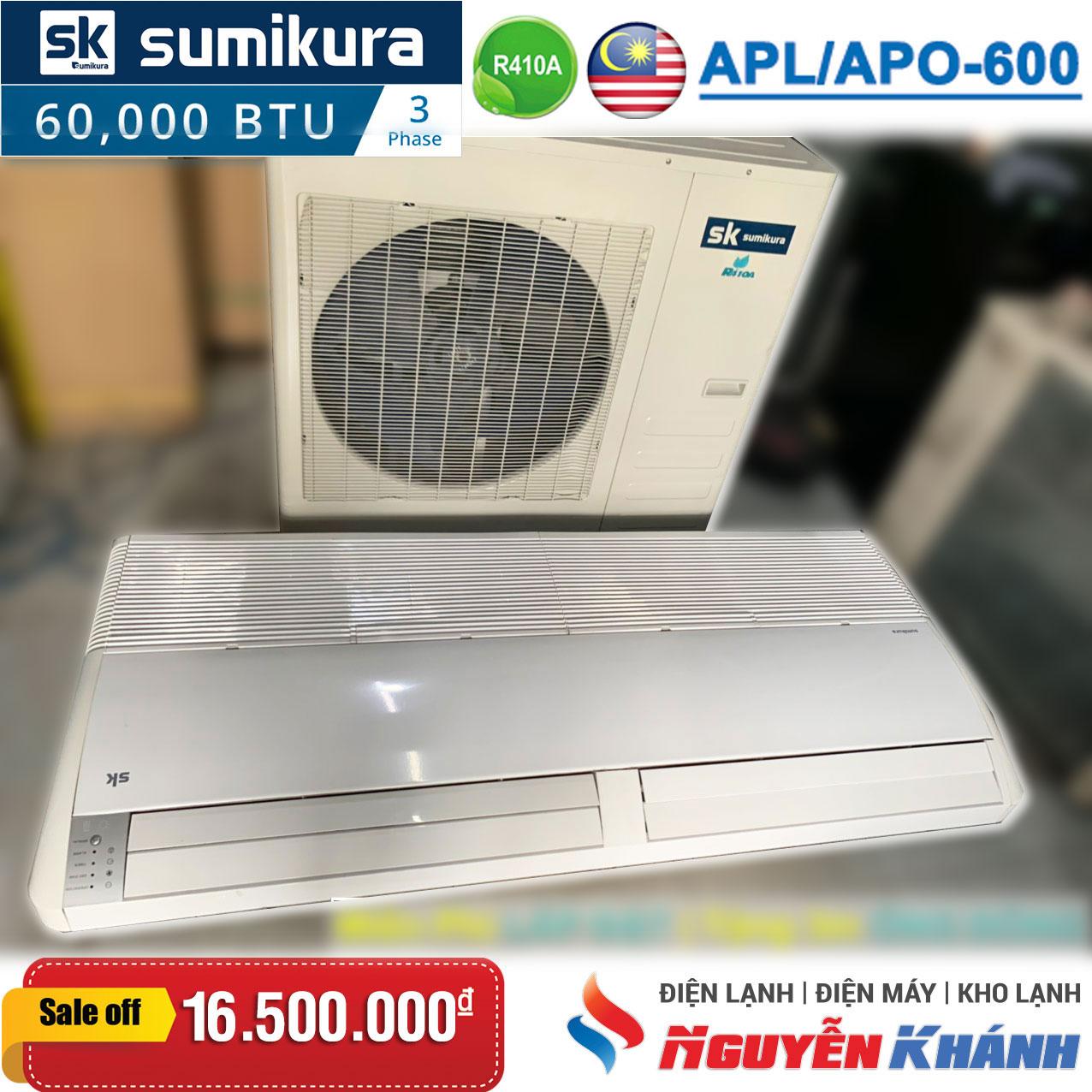 Máy lạnh áp trần Sumikura APL/APO-600 (6.0Hp)