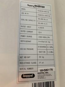 Thanh lý máy lạnh áp trần Koppel mới 100% giá rẻ