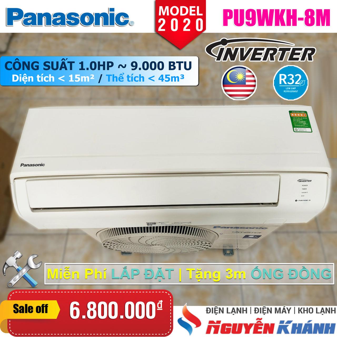 Máy lạnh Panasonic Inverter CU/CS-PU9WKH-8M (1.0Hp)